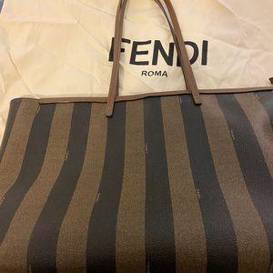 FENDI Pequin Stripe Tote